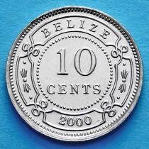 Белиз 10 центов 2000 год.