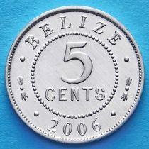 Белиз 5 центов 2006 год.