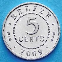 Белиз 5 центов 2009 год.