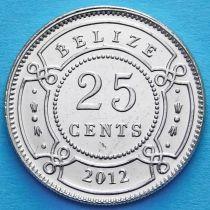 Белиз 25 центов 2012 год.