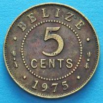 Белиз 5 центов 1975 год.