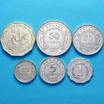 Белиз набор 6 монет 1991-2012 год