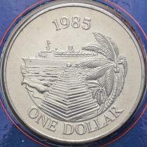 Бермудские острова 1 доллар 1985 год. Круизный туризм.