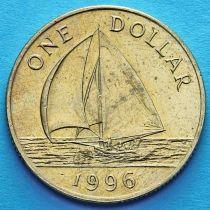 Бермудские острова 1 доллар 1988-1996 год. Парусник.