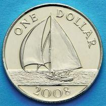 Бермудские острова 1 доллар 2008 год. Парусник.