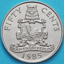 Бермудские острова 50 центов 1985 год.