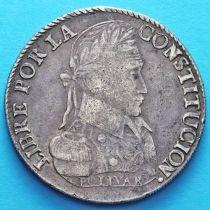 Боливия 8 солей 1837 год. Серебро.