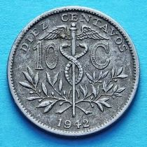 Боливия 10 сентаво 1942 год.