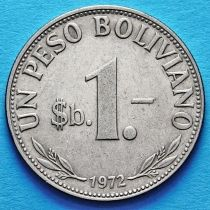 Боливия 1 боливанский песо 1968-1980 год.