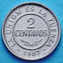 Боливия 2 сентаво 1987 год.
