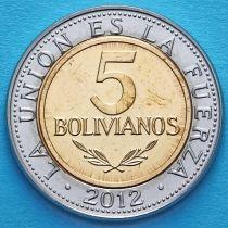 Боливия 5 боливано 2012 год.