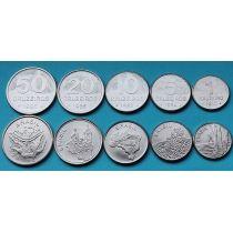 Бразилия набор 5 монет 1980-1985 год.