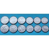 Бразилия набор 6 монет 1992-1994 год. Животные