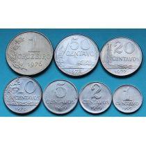 Бразилия набор 7 монет 1969 - 1978 год.