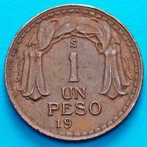 Чили 1 песо 1942 год.