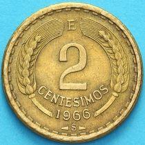 Чили 2 сентесимо 1966 год.