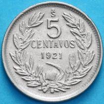 Чили 5 сентаво 1921 год.