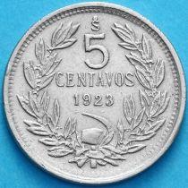 Чили 5 сентаво 1923 год.