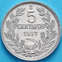 Чили 5 сентаво 1936 год.