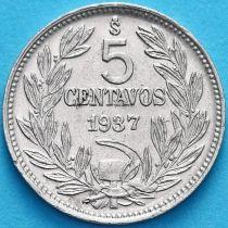 Чили 5 сентаво 1937 год.