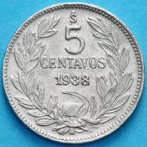 Чили 5 сентаво 1938 год.