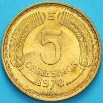Чили 5 сентесимо 1970 год.