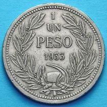 Чили 1 песо 1933 год.