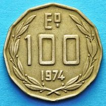 Чили 100 эскудо 1974-1975 год.
