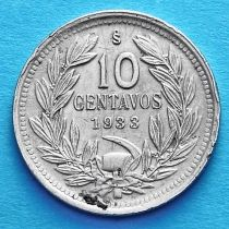 Чили 10 сентаво 1933 год.