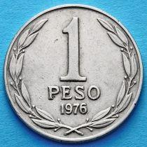 Чили 1 песо 19761977 год.