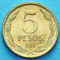 Чили 5 песо 1990 год. Свобода.