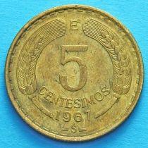 Чили 5 сентесимо 1960-1971 год.
