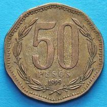 Чили 50 песо 1988-2006 год.