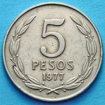 Чили 5 песо 1977-1978 год.