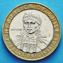 Лот 10 монет Чили 100 песо 2001-2015 год. Индейцы Мапуче.