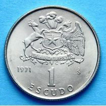 Чили 1 эскудо 1971 г. Хосе Мигель Каррера