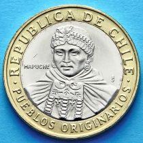 Чили 100 песо 2010 год. Индейцы Мапуче.