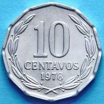 Чили 10 сентаво 1978-1979 г.