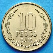 Чили 10 песо 2012-2013 год.