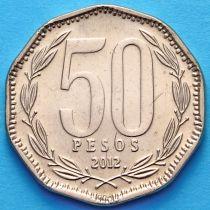 Чили 50 песо 2012 год.