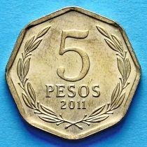 Чили 5 песо 1993-2013 год.