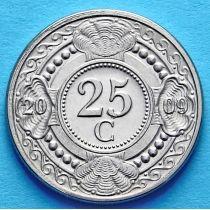Нидерландские Антилы 25 центов 2009 год.