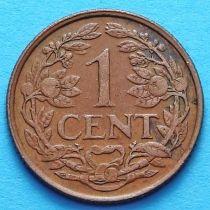 Нидерландские Антилы 1 цент 1961 - 1968 год.