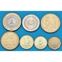 Аргентина набор 7 монет 1992-2013 год.