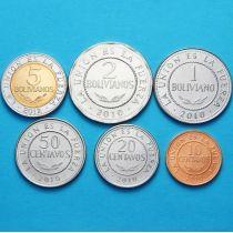 Боливия набор 6 монет 2010-2017 год.
