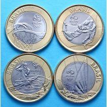 Бразилия набор 4 монеты 2015 год. Олимпиада в Рио №2