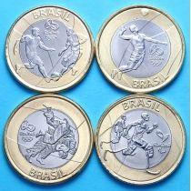 Бразилия набор 4 монеты 1 реал 2015 год. Олимпиада в Рио, №3