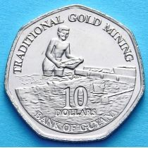Гайана 10 долларов 2011 год.