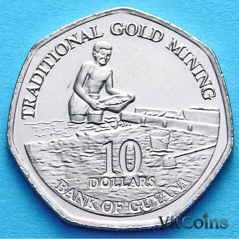 Монета Гайаны 10 долларов 2011 г.