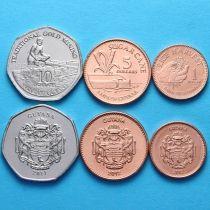 Гайана набор 3 монеты 2011-2012 год.